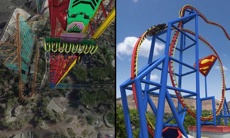 Six Flags Discovery Kingdom Magic Mountain Lex Luthor Drop of Doom Superman Ultimative Flight Frühlingsgefühle – Kalifornien im Eröffnungsfieber