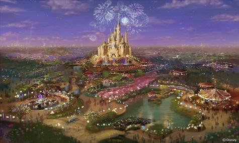 Ein vielversprechender Entwurf vom Disneyland Shanghai