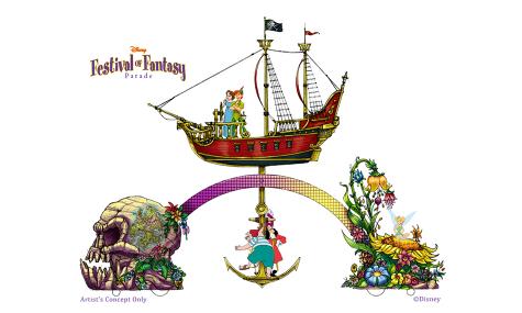 Auch Peter Pan bekommt einen wunderschön gestalteten Wagen