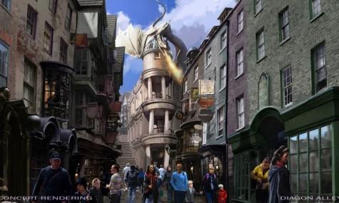 """Gut bewacht, die neue Hauptattraktion in der Winkelgasse: """"Harry Potter and the Escape from Gringotts"""""""