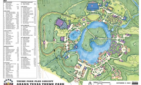 Detailreiches Park-Konzept: Wer genau hinschaut, kann fünf Achterbahnen entdecken