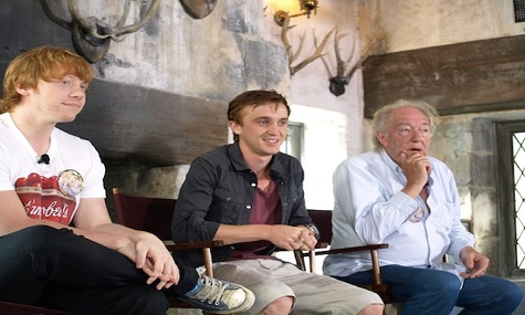 Bei der Eröffnung der Wizarding World waren die Schauspieler von Ron, Draco und Albus Dumbledore anwesend