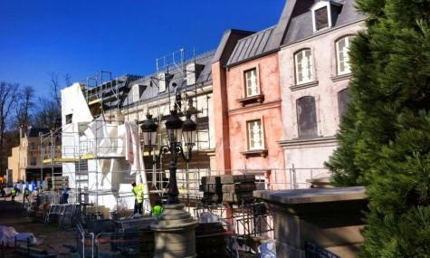 Auch der Baufortschritt ist wieder einmal deutlich sichtbar.