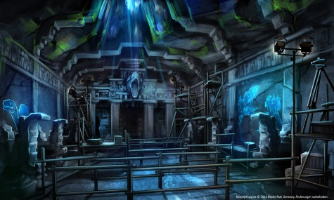 Artwork aus dem Inneren des Tempels, welcher als Wartebereich dient - Anklicken zum vergrößern!