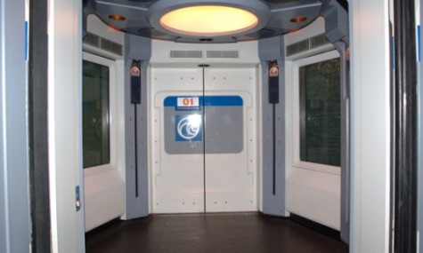 """Alles nur Show - dieser """"Aufzug"""" ist nicht funktionstüchtig."""