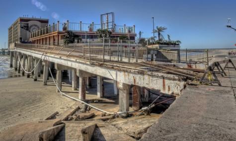 Das zerstörte Flagship-Hotel nach Hurricane Ike 2008