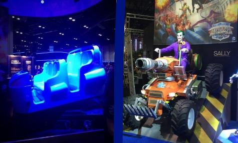 Links der Wagen, rechts die Joker Animatronic