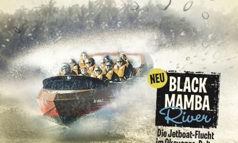 Black Mamba River - Die Jetboat-Flucht im Okavango-Delta (anklicken zum vergrößern)