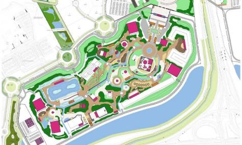 Der Plan des konzipierten Parks (Klick zum Vergrößern)