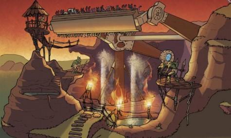 Interessante Top-Spin-Gestaltung bei La Grotte des Goblins (Klick zum Vergrößern)
