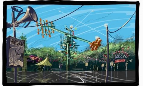 Artwork zum Sky Fly - doch so wird es erst 2016 auf dem ehemaligen Bounty-Platz aussehen