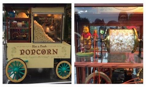 Nicht nur das Popcorn ist besoners, auch die Popcornwägen sind liebevoll gestaltet.