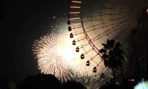 Feuerwerk am Riesenrad