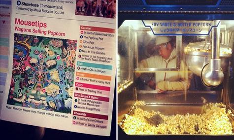 Popcorn spielt so eine große Rolle, dass es sogar einen eigenen Parkplan hat