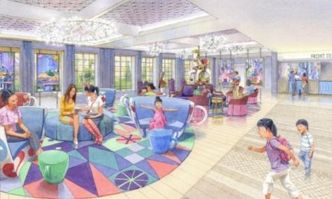 So soll später die Lobby des Hotels aussehen - Anklicken zum Vergrößern!