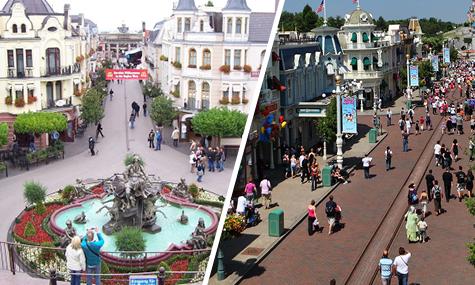 mainstreetusa vs altberlin Disneyland Resort Brühl   Wie Disney das Phantasialand inspiriert