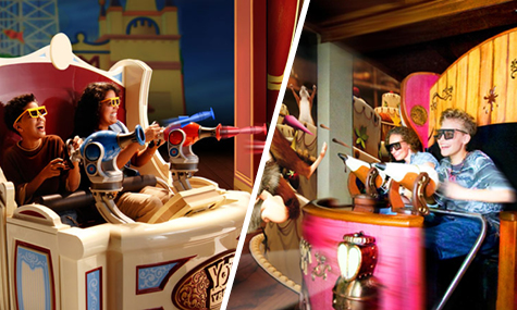 Mause au Chocolat vs. Toy Story Midway Mania